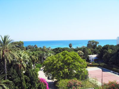 Apartments with beautiful panoramic view Sea/Garden for the tourist area Hammamet just opposite the Hotel Bel Azur- WIFI