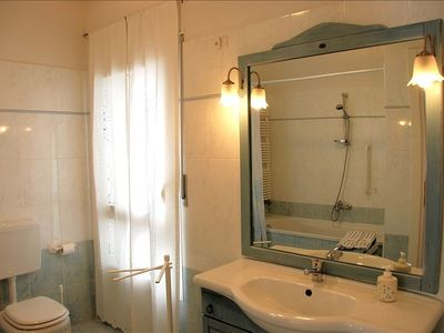 Bathroom 1.  Clean and tidy-good quality towels, soap, detergents, etc provided