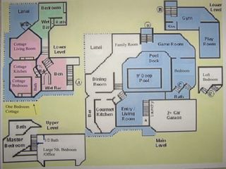 Kaneohe estate photo - Light House floor plan with 1 br. cottage