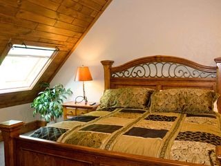 Seven Springs house photo - 2nd level spacious King bedroom, w/TV and bonus bedroom off this