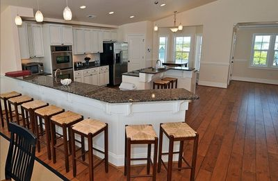 Designer Hardwood Floors -- Granite Counter Tops