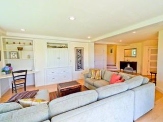 Gayhead - Aquinnah house photo - TV/Family Room Has Sectional Seating, Media Center & Doors To Patio. First Floor