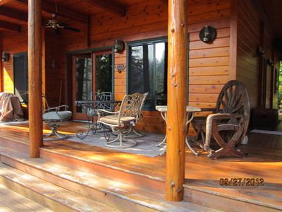Leavenworth cabin rental - Wow, coffee and river watching? It's nice to be a retired cowboy!