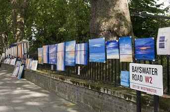 Every Sunday Bayswater Road is transformed into the liveliest open-air art show.