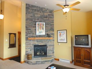 Steamboat Springs condo photo - Living Room area with gas fireplace
