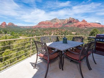 Sedona house rental - Viewed from your private home and decks