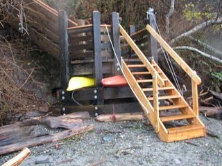 Port Ludlow house photo - New stairs to the beach