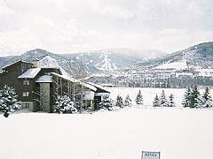 Avon condo photo - Buck Creek--winter (front of condo)