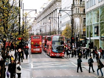 Oxford Street for shopping - 5 min walk