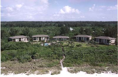 Aerial View of Sandpiper Beach Condominium Complex