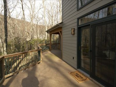 Side Porch offers great views and a relaxing outdoor seating.