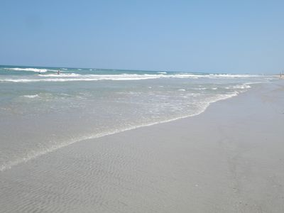 White sandy beach on the Atlantic coast
