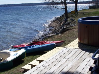 Mullett Lake cottage rental - Shoreline ......