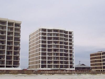 View of 40 Unit Sea Marsh I from Atlantic Ocean/Sand Beach