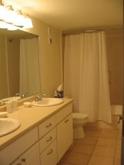 Pensacola Beach condo photo - Master bathroom. All bathrooms have similar style.