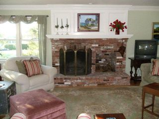 Middletown house photo - Living room with fireplace