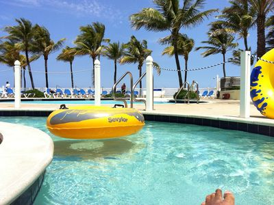 Ride an Innertube on our Lazy River Tube Ride, the only one in Ft. Lauderdale!