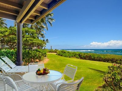 A picture worth 1000 words- Lanai View - only a few steps to the beach!
