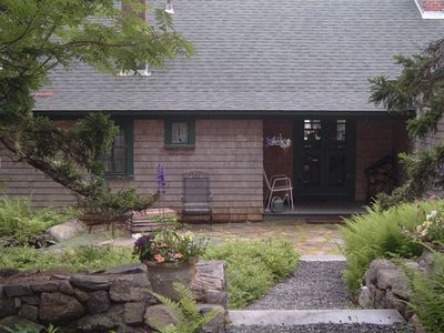 Seal Cove cottage rental - Cottage Entry and Patio