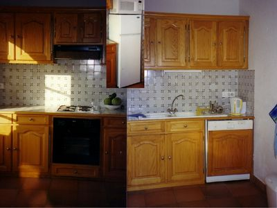 Lorgues apartment rental - Kitchen leads to Terrace