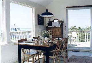 Chappaquiddick house photo - Dining Area with Sweeping Views