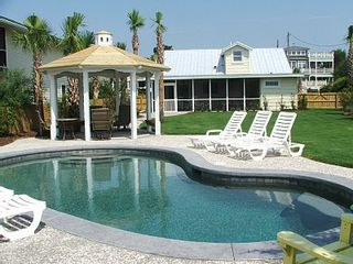 Isle of Palms house photo - Backyard, Pool, Gazebo