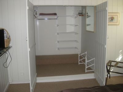 Walk-in closet in bedroom