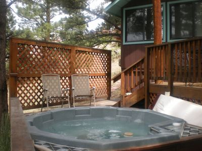 Shared hot tub- The Nutshell in the background