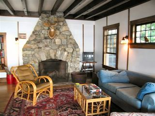 Wolfeboro cottage photo - The Great Room fireplace