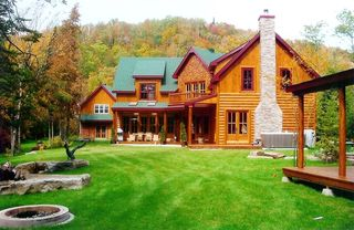 Your dream log home by the lake in the laurentians 40min from tremblant 4 br vacation cottage - Small log houses dream vacations wild ...