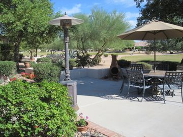 Sun Lakes house rental - Luxury living from our backyard outdoor space overlooking the 8th hole
