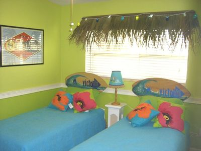 Madeira Beach house rental - Surfs up! Bedroom with TV, Game Cube, DVD player