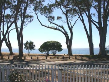 La Selva Beach cottage rental - View of Monterey Bay from Carriage House front garden