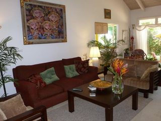 Princeville house photo - Comfy Family Room (closer view). Relax, enjoy!