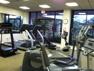 Partial view of the well equipped fitness center