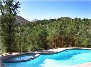 Sedona house rental - Relax by the Heated Pool & Spa