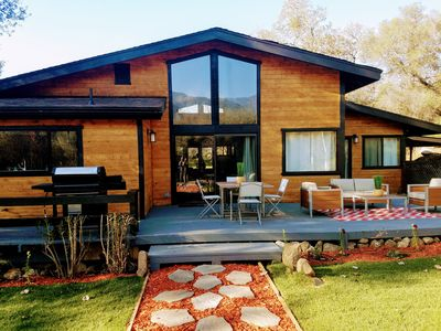 """Contemporary """"River Retreat House""""  with 2 Decks on the South Fork River"""