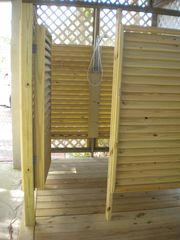 St George Island house photo - New outdoor hot & cold shower