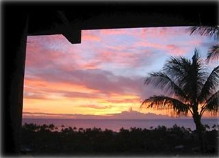 Enjoy brilliant sunsets each night off balcony or pool or drive 1 min. to beach.