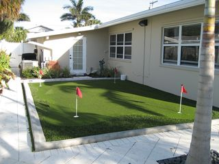 Hutchinson Island house photo - Putting Green - clubs and balls included