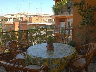 Nomentano apartment photo - Lovely balcony with a view of the Roman roofs