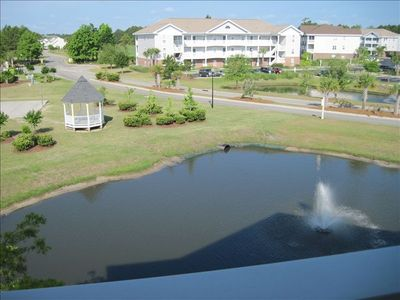 Balcony view of pond