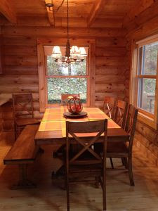 Maggie Valley cabin rental - Dinning for 8+