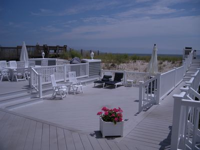 Fabulous multi level decks nestled behind the dunes