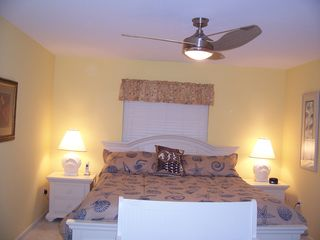 Sanibel Island house photo - Master Bedroom has a comfortable king bed and 42 inch LCD HD TV