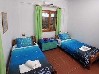 Gouves villa photo - One of the bedrooms of the upper floor
