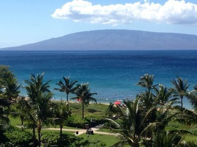 Actual View from Lanai. Unobstructed views 180 degrees of Ocean and Island views