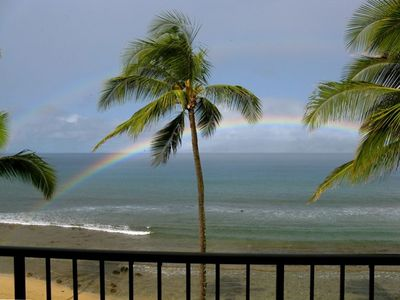 Kaanapali condo rental - The view is breathtaking. A double rainbow and L-404 is the pot of gold.