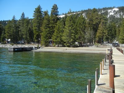 Private Dock & Beach. Just a one minute walk from the house!