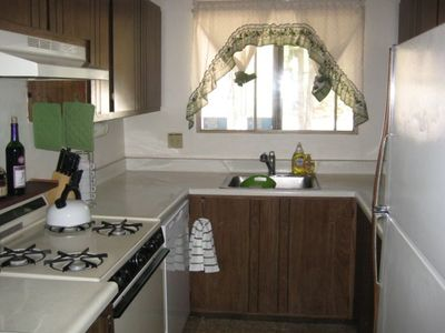 The Kitchen Offers the Amenities of Home Including Toaster, Blender, Microwave